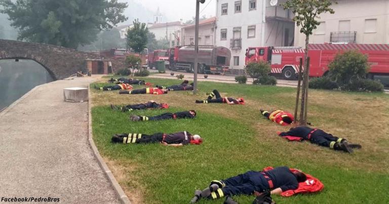 Это фото показывает, почему мы не должны переставать благодарить пожарных