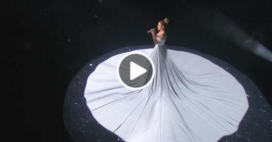 «Живое» платье холст Дженнифер Лопес