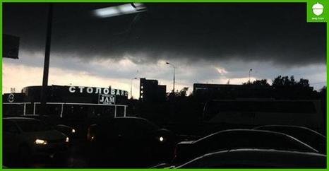 В Москве   страшный Ветхозаветный Потоп. Вот фото