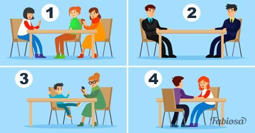 За каким столиком вы бы НЕ хотели сидеть? Ответ расскажет, что вас беспокоит