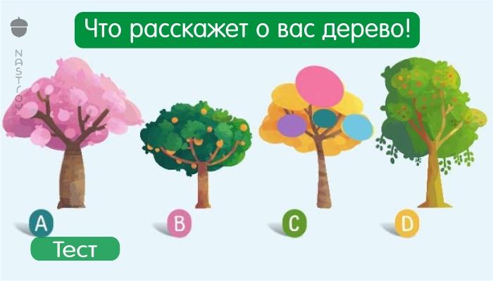 Выберите понравившееся вам дерево и узнайте слово, которое характеризует вас!