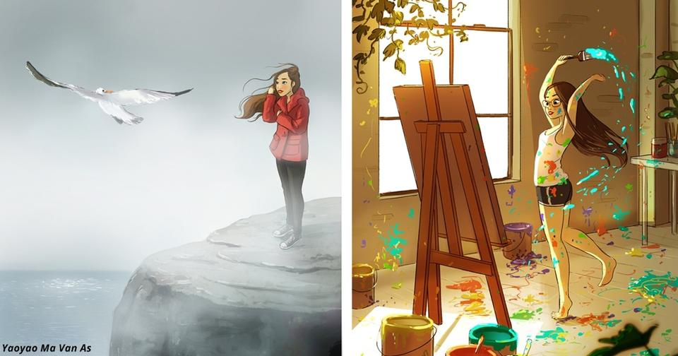 16 восхитительных иллюстраций о том, что жить одной   вообще отлично!