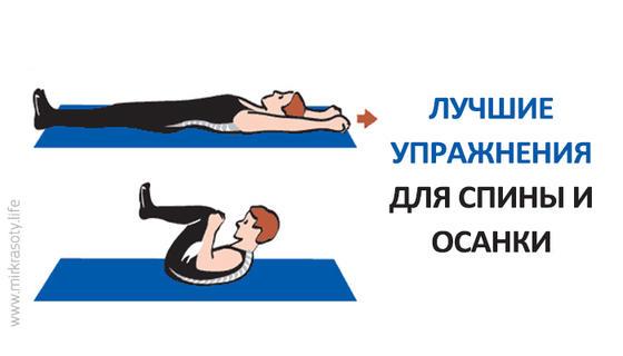 Упражнения для профилактики болей в спине и улучшения осанки