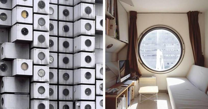 Это первый жилой капсульный дом в мире, и вид изнутри по настоящему вас поразит
