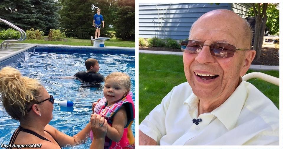 94 летний дед сделал бассейн для соседей. Причина растрогала меня до слез