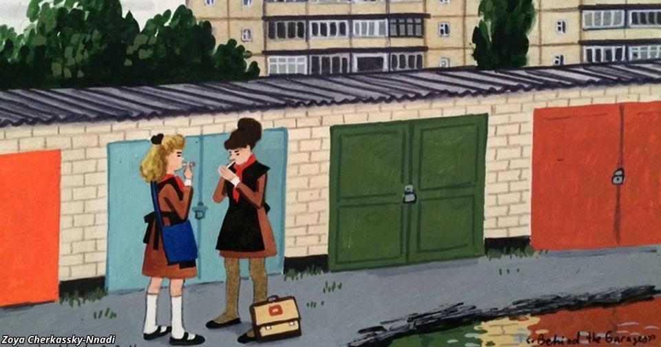 15 летняя советская девочка честно нарисовала, каким было ее детство в СССР