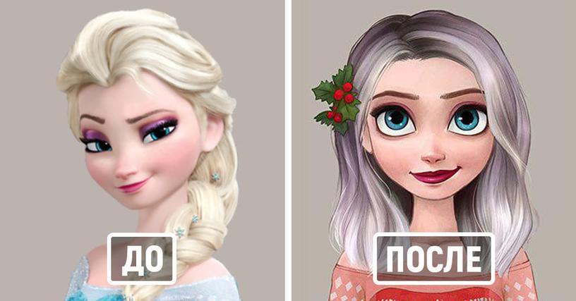 Как могли бы выглядеть диснеевские принцессы, носи они современные причёски