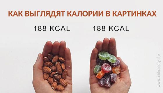 Как выглядят калории в картинках