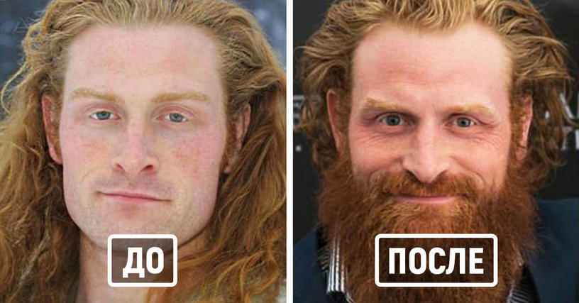 26 знаменитых актёров, которым с бородой гораздо лучше, чем без неё