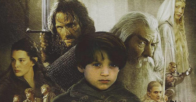 14 постеров известных фильмов, на которых лица актёров заменили их детскими фотографиями