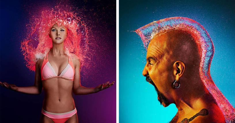 Фотограф создаёт невероятные причёски, которые появляются и исчезают за считанные секунды