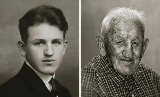 13 фото одних и тех же людей, сделанные сейчас и 100 лет назад
