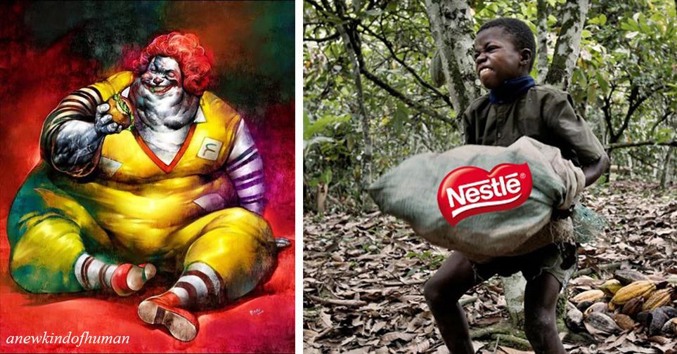 Вот какой была бы реклама корпораций, если бы в ней показывали правду