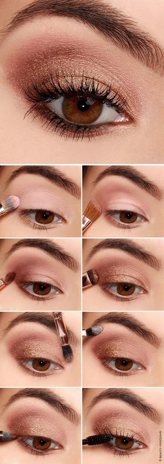 Макияж для карих глаз с пошаговой инструкцией и