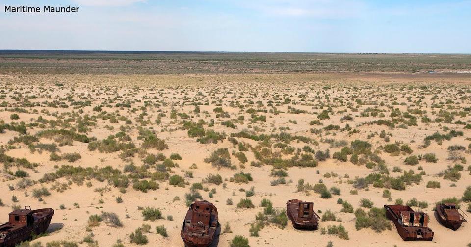 Огромное Аральское море превратилось в пустыню. Фото, от которых стынет кровь