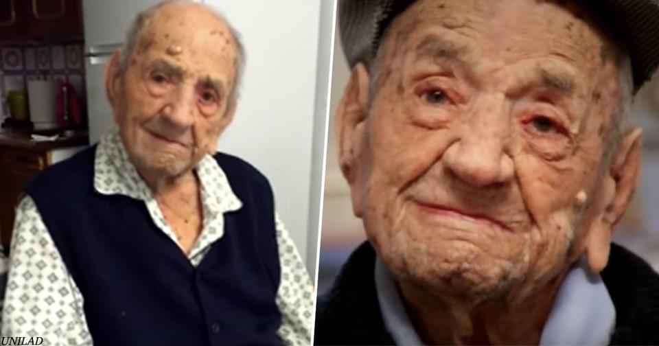 Этот 113-летний мужчина - самый старый на Земле. Говорит, есть только 1 секрет...