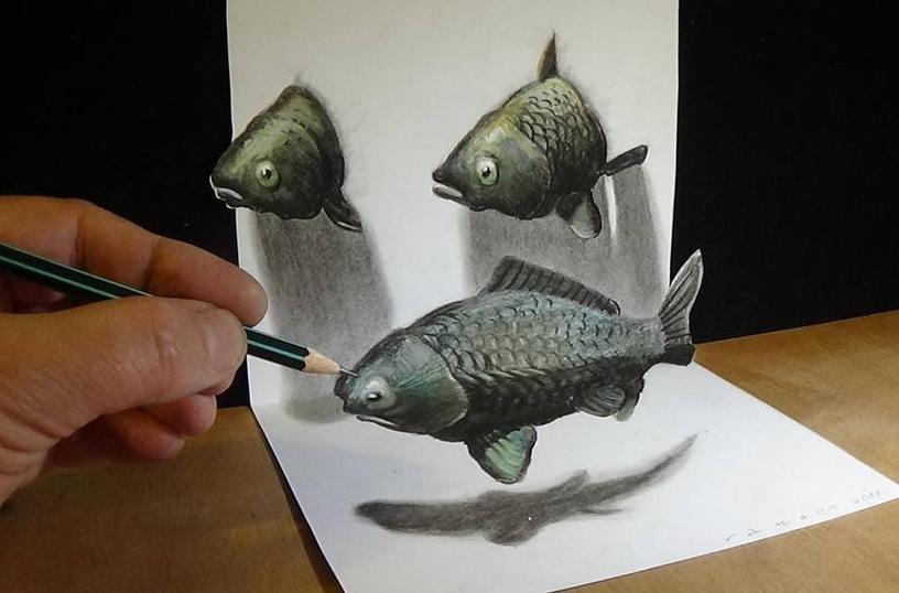 3D-рисунки этого художника взорвут вам голову, а потом он покажет, как это создаётся. Но будет уже поздно