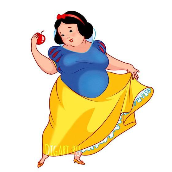 Художница из России представила, как выглядели бы диснеевские принцессы, если бы любили плюшки больше своих принцев