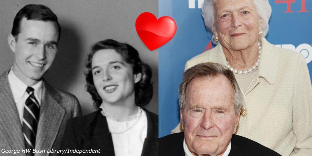 В этот день святого Валентина надо брать пример с Джорджа и Барбары Буш! Вот почему
