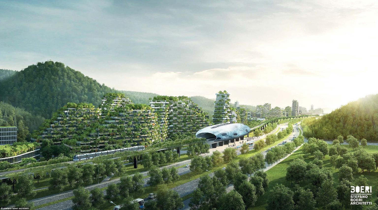 ″Город сад″: В Китае построят первый в мире абсолютно зеленый город!