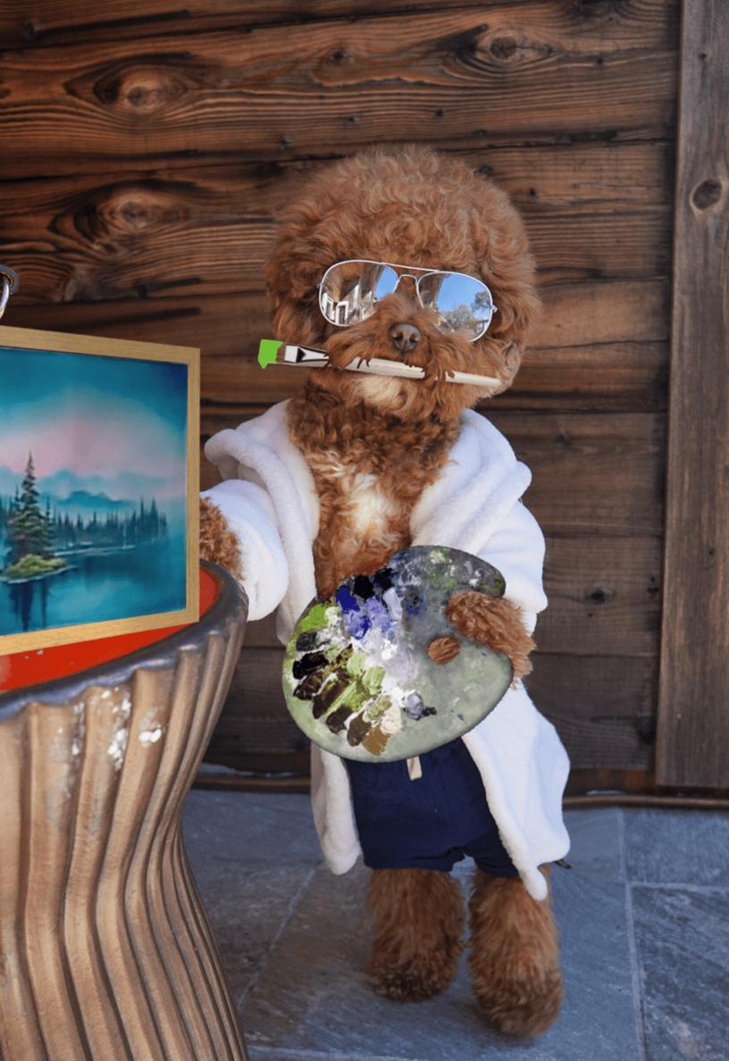 Фотография пса в очках и халатике вдохновила пользователей на новую весёлую фотошоп-битву. Оказалось, что этот стиляга гармонично смотрится в любом образе