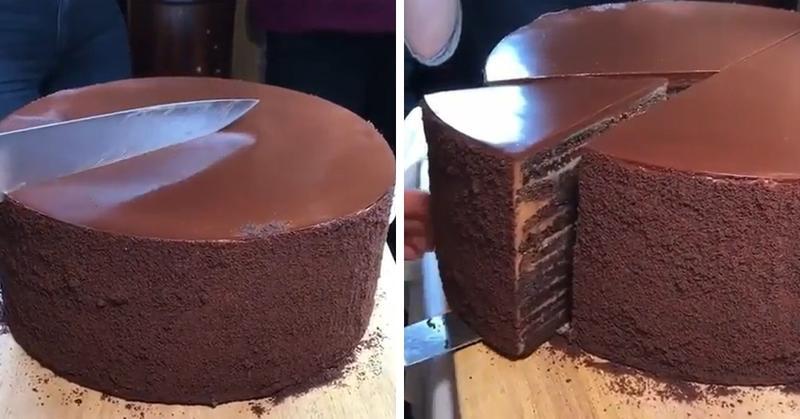 Пользователи Инстаграма делятся залипательными видео того, как они режут красивую еду. Странно, но их просмотр действительно затягивает