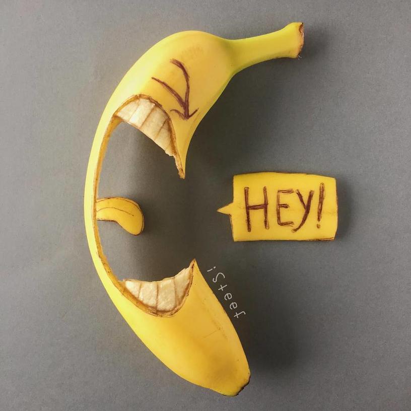 Голландский художник превращает бананы в материал для творчества. И есть их было бы жалко