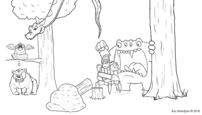 Художник нарисовал медведя и ежедневно добавлял детали. Но процесс вышел из-под контроля