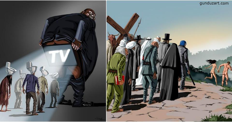 25 жестких, брутальных, но честных карикатур о том, во что мы превратили наш мир Жизненно.