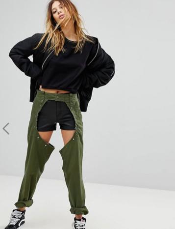 Люди на самом деле покупают эти ″джинсы″ за USD168! Куда катится мир?! Искусство продавать дырки.