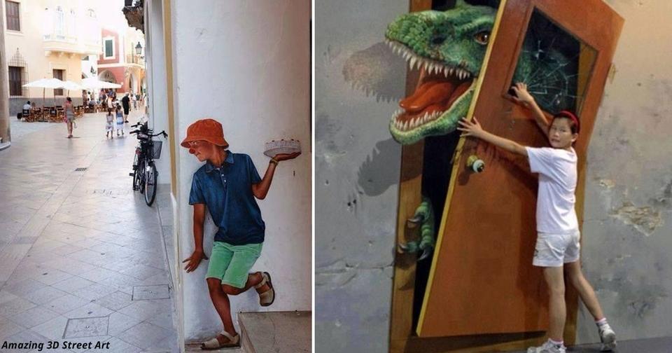 19 раз, когда кто то нарисовал на улице настоящее волшебство И никакого фотошопа!