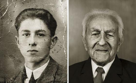 ″Тогда и сейчас″: 13 фото одних и тех же людей, сделанные с разницей в 100 лет Вот что с нами делает время.