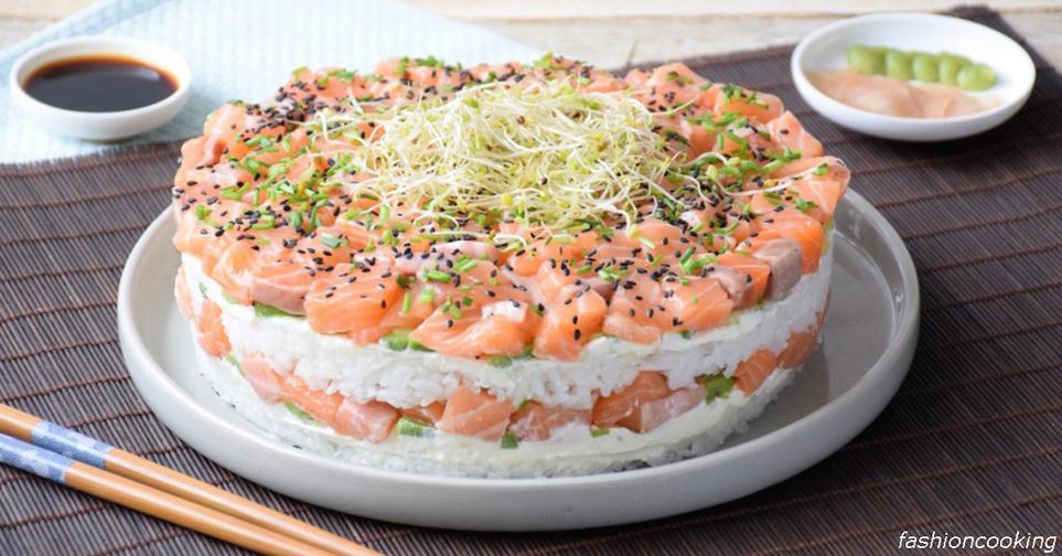 Вот рецепт суши торта, от которого будут в шоке все ваши близкие Находка для ″сушиманов″!