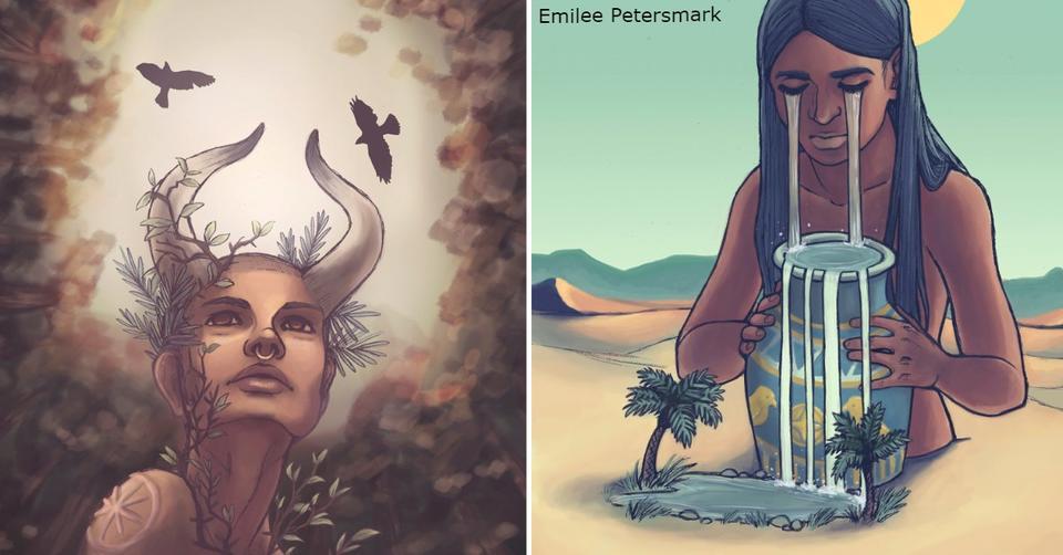 Представьте, что знаки Зодиака   это древние Боги! Вот как бы они выглядели... За каждым знаком скрывается свой миф.