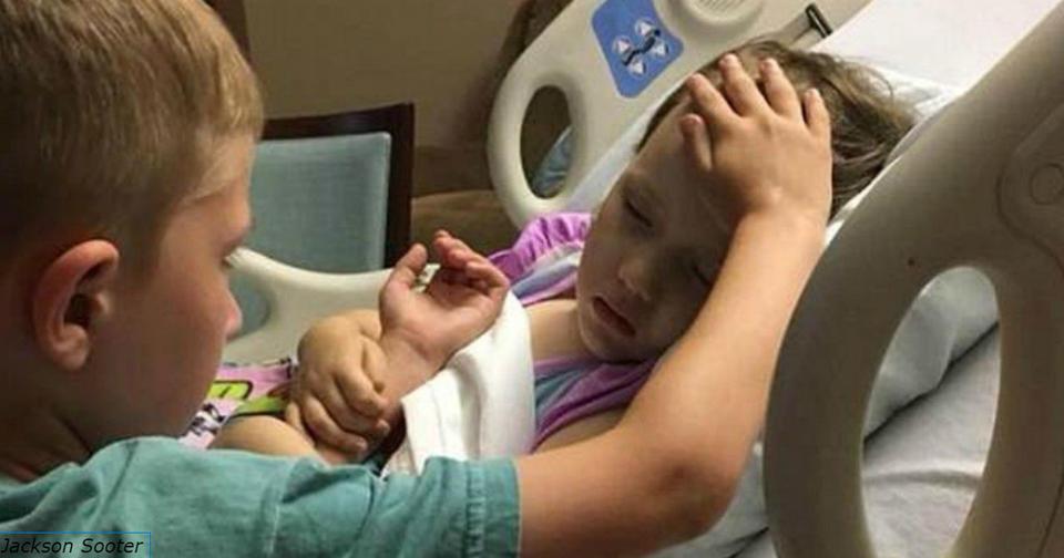 На этом фото 6 летний мальчик утешает умирающую от рака мозга сестренку... Что этот кадр говорит о нас как о людях?