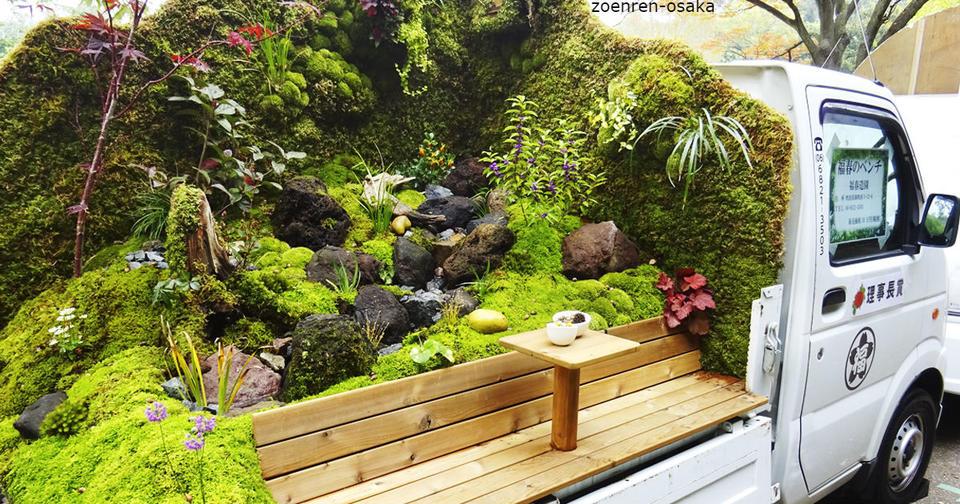 Передвижные сады в грузовиках   такая мода могла появиться только в Японии! И вы так сможете.
