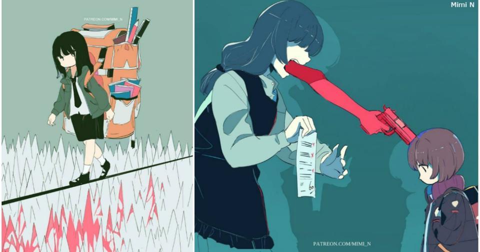 Японская художница нарисовала все ваши тайные чувства и желания! Жестко, но честно... Как есть.