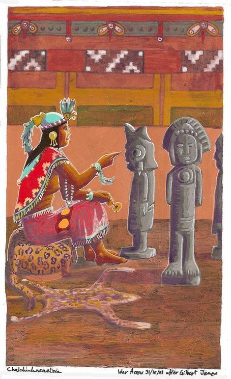 Безжалостная королева ацтеков, создававшая статуи из трупов своих любовников История реальной ″черной вдовы″.