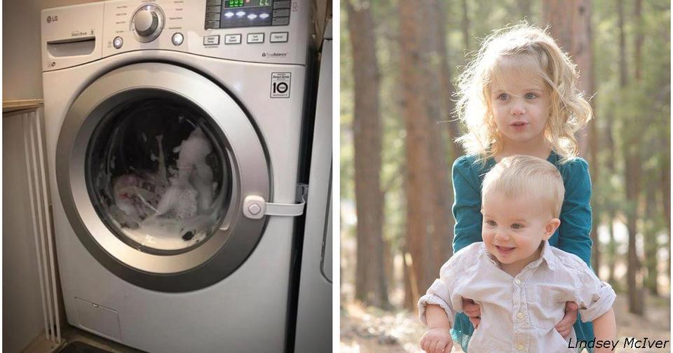 Они нашли свою 3 летнюю дочь в барабане стиральной машины! И теперь просят всех... Об этом обязаны знать все родители!