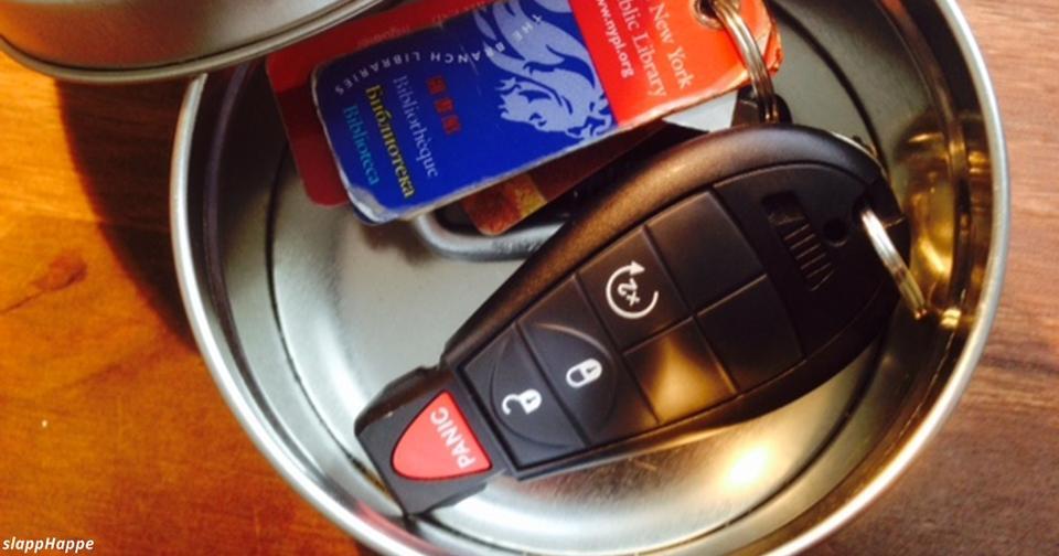 Чтобы вашу машину не угнали, прячьте ключи в жестяную банку! Вот почему