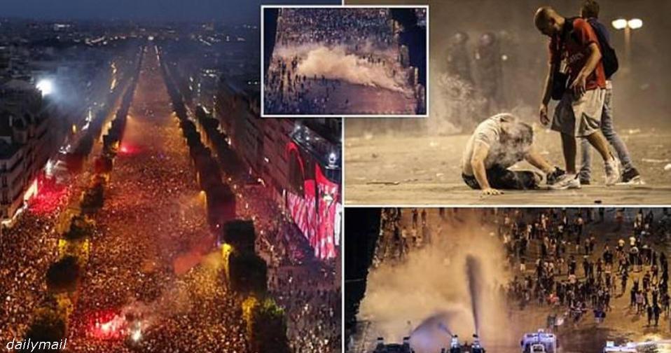 В Париже победу праздновали так жестко, что 2 человека погибло! Вот фото беспорядков Во дают!