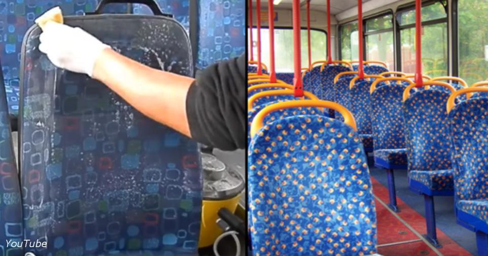 Вот почему все сиденья в автобусах обтянуты тканью с такими пошлыми узорами И уродскими.