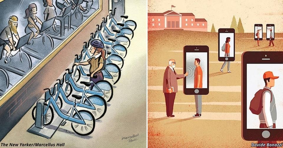 19 жестких карикатур о том, в каком странном мире нам всем приходится жить Искусство правды.