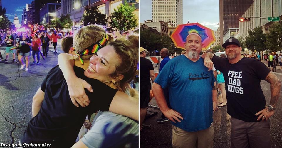 Мамы обнимают юношей на гей параде   тех, чьи родители так и не смирились Бескорыстное добро!
