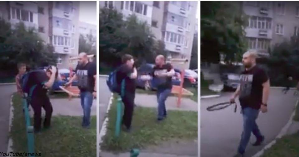 Отец избил сына ремнем на глазах у соседей. Все правильно сделал?! Суровые методы из Урала.