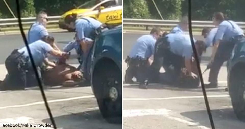 На видео видно, как 6 полицейских избивают одного темнокожего в США Шокирует!