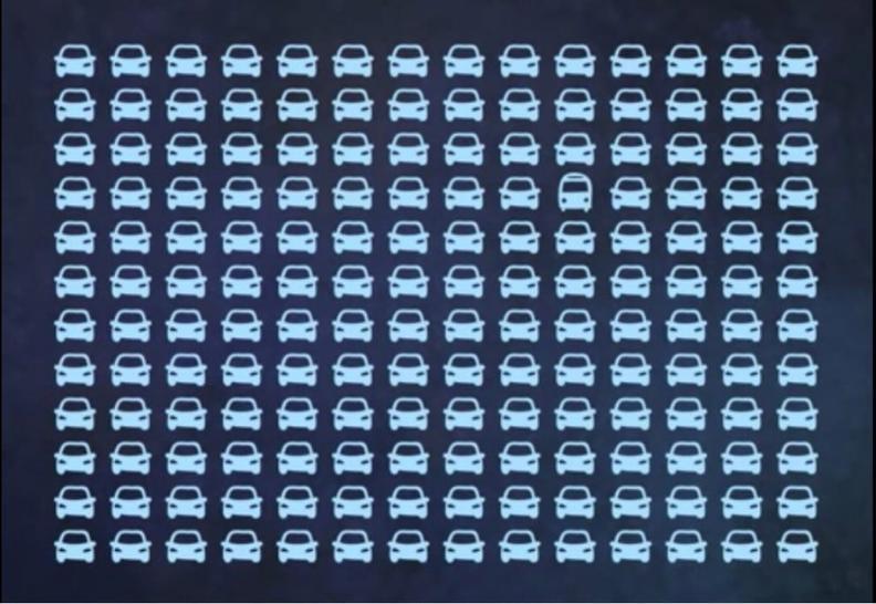 Большинство людей не могут найти здесь автобус. А вы? Только для самых внимательных.