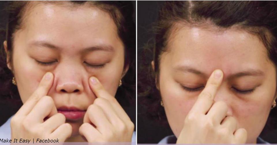 5 точек для избавления от головной боли за 5 минут Акупрессура вместо химии.