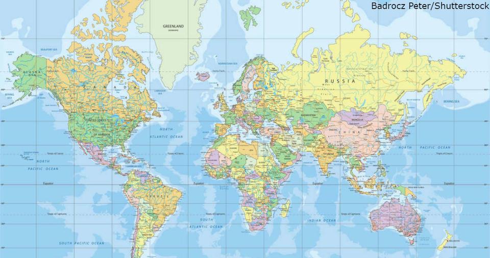 Карта, на которой вы выросли   наглая ложь! Вот как выглядит мир на самом деле Мир не совсем то, чем кажется.