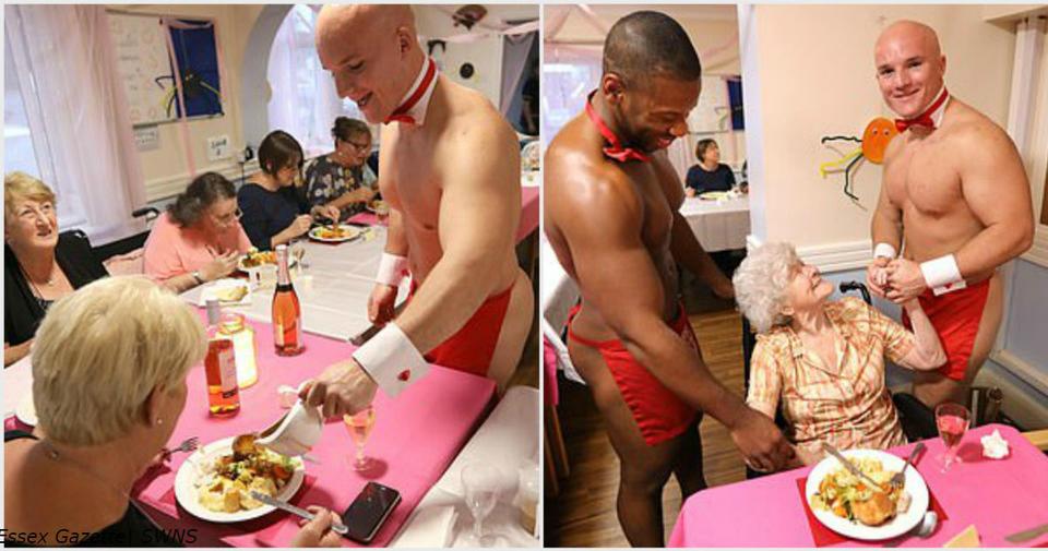 Женщин из дома престарелых поздравили голые качки-официанты! Вот как все было Возможно все! Были бы деньги...